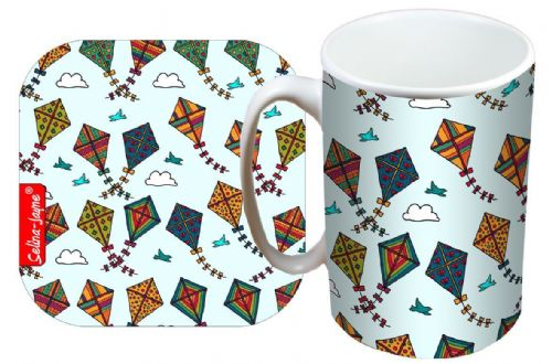 Selina-Jayne Kites Limited Edition Designer Mug and Coaster Set